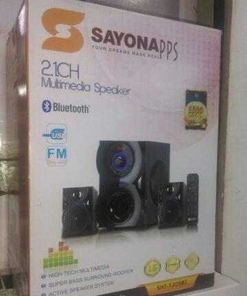 Electronics Sayona sht-1209bt 2.1ch subwoofer 5500w pmpo bluetooth/usb/fm