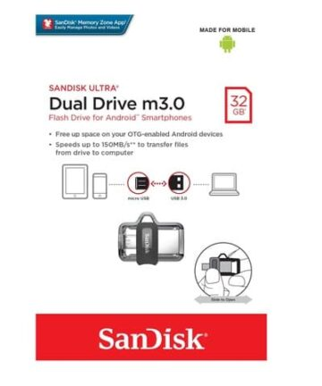 Computer Data Storage SanDisk Ultra 32GB Dual Drive m3.0 for Android Devices and Computers