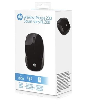 Computer Accessories HP 200 Wireless Optical Mouse (X6W31AA#ABL) Black – New
