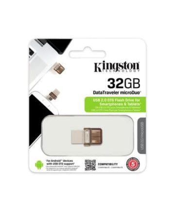 Computer Data Storage Kingston Digital 32GB Data Traveler MicroDuo USB 2.0 micro USB OTG DTDUO32GB