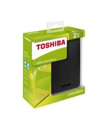 Computer Data Storage Toshiba Canvio Basics – External Hard Drive – USB 3.0 – 2TB – Black_