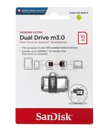 Computer Data Storage SanDisk Ultra 16GB Dual Drive m3.0 for Android Devices and Computers