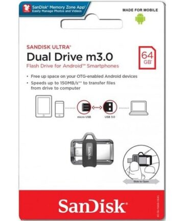 Computer Data Storage SanDisk Ultra 64GB Dual Drive m3.0 for Android Devices and Computers