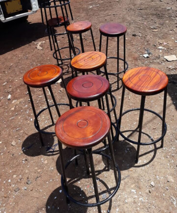 Schoolfurniturekenya Approved Laboratory Stools & Chairs with Mahogany Top