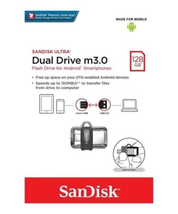 Computer Data Storage SanDisk Ultra 128GB Dual Drive m3.0 for Android Devices and Computers