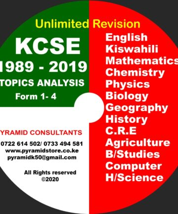 Revision materials Topical 1989-2020 KCSE Unlimited Revision materials