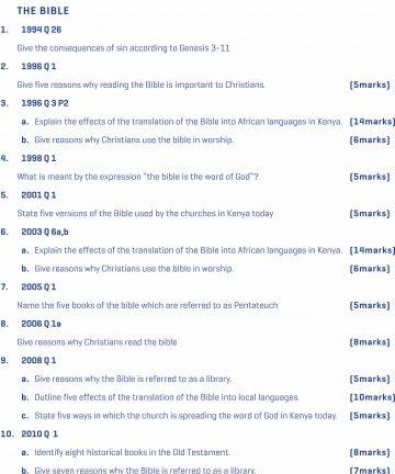 Revision materials Topical 1989-2020 KCSE Unlimited Revision materials Q&A